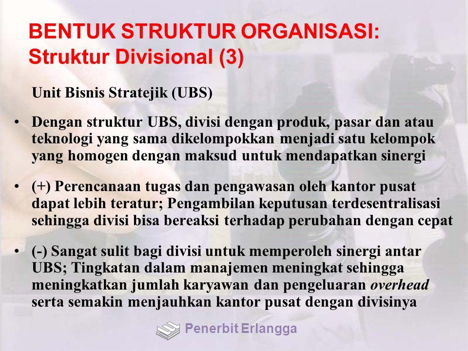 BENTUK STRUKTUR ORGANISASI: Struktur Divisional (3)