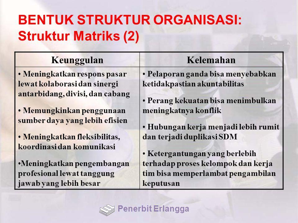 BENTUK STRUKTUR ORGANISASI: Struktur Matriks (2)