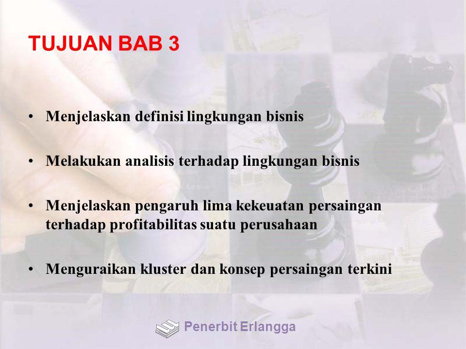 TUJUAN BAB 3 Menjelaskan definisi lingkungan bisnis
