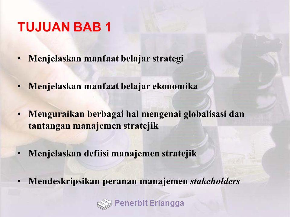 TUJUAN BAB 1 Menjelaskan manfaat belajar strategi