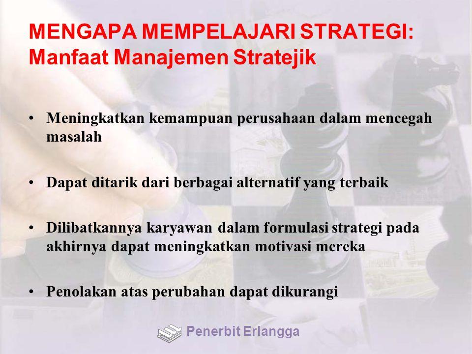MENGAPA MEMPELAJARI STRATEGI: Manfaat Manajemen Stratejik
