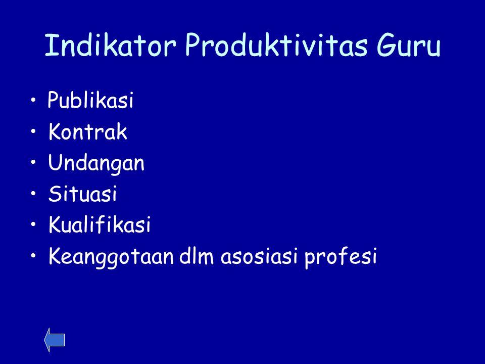 Indikator Produktivitas Guru