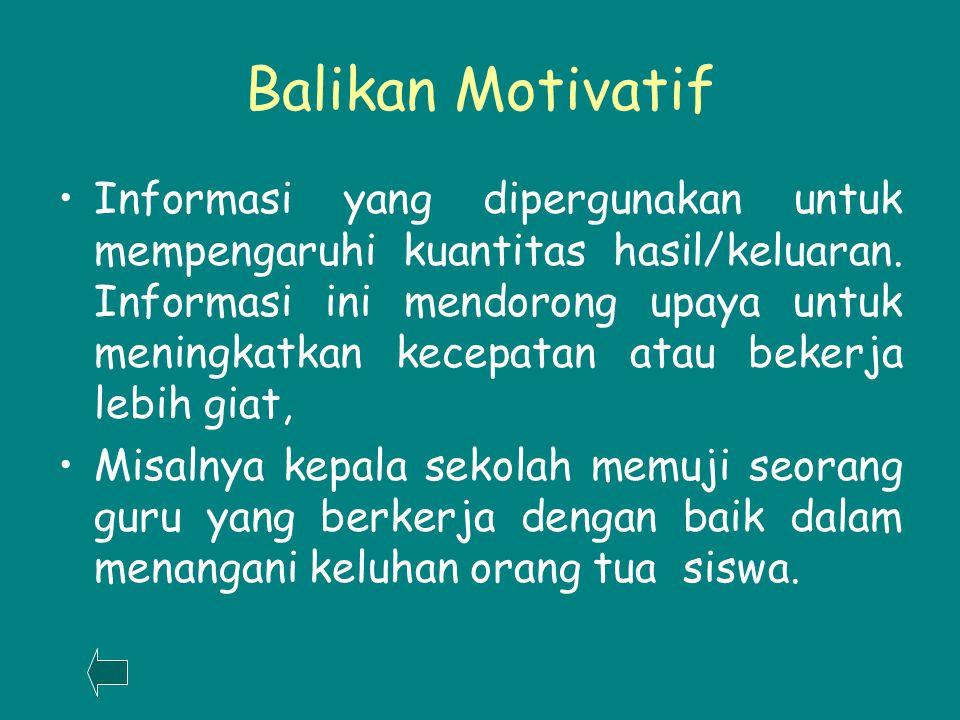 Balikan Motivatif
