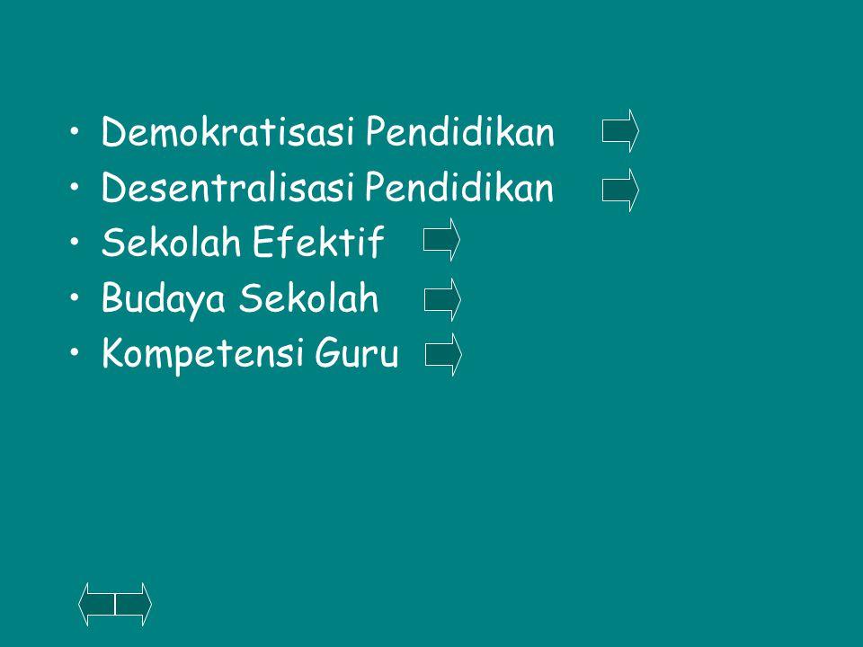 Demokratisasi Pendidikan