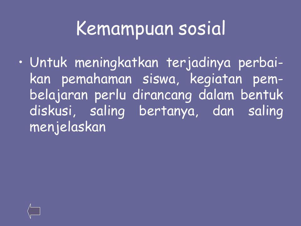 Kemampuan sosial
