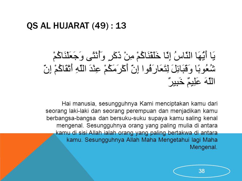 QS Al Hujarat (49) : 13