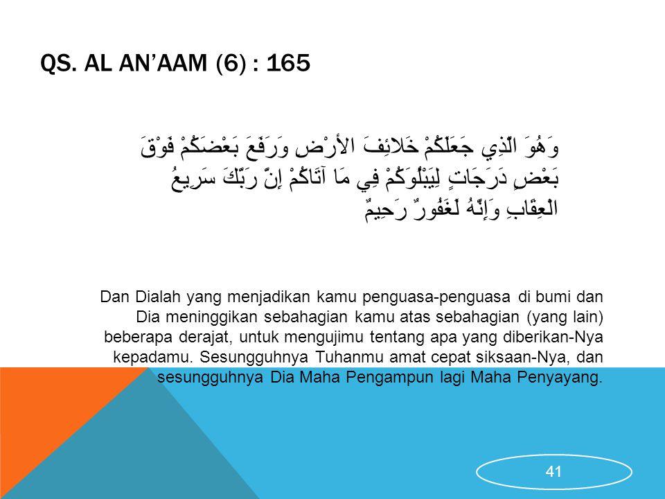 QS. Al An'aam (6) : 165