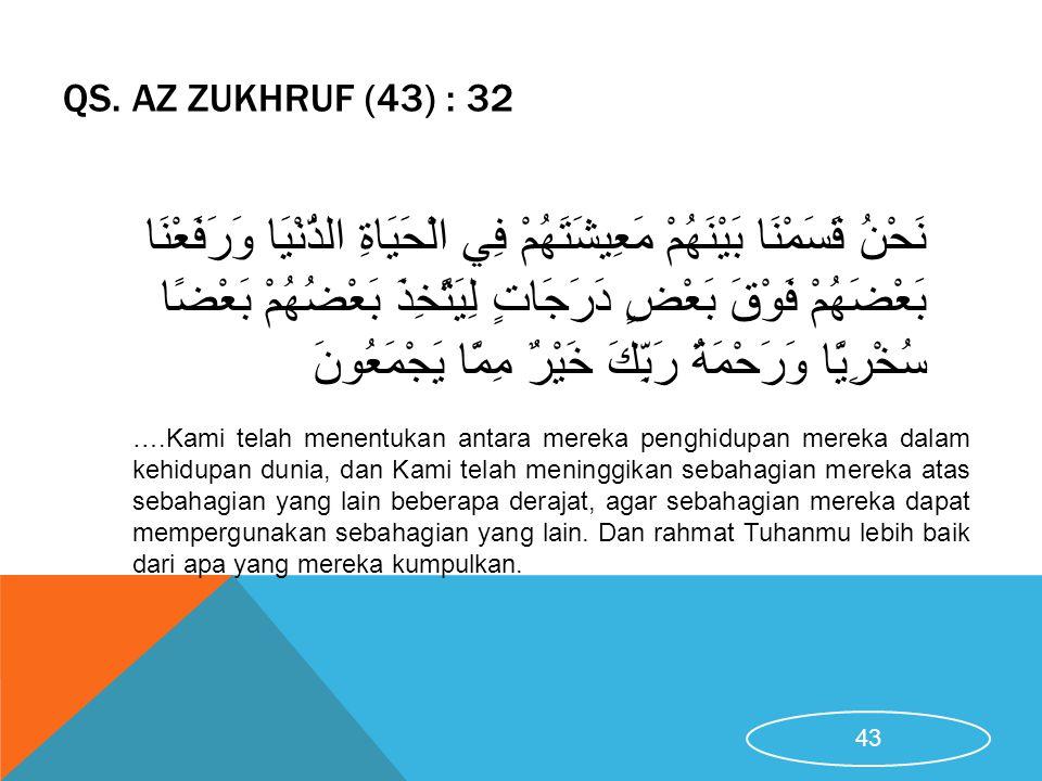QS. Az Zukhruf (43) : 32