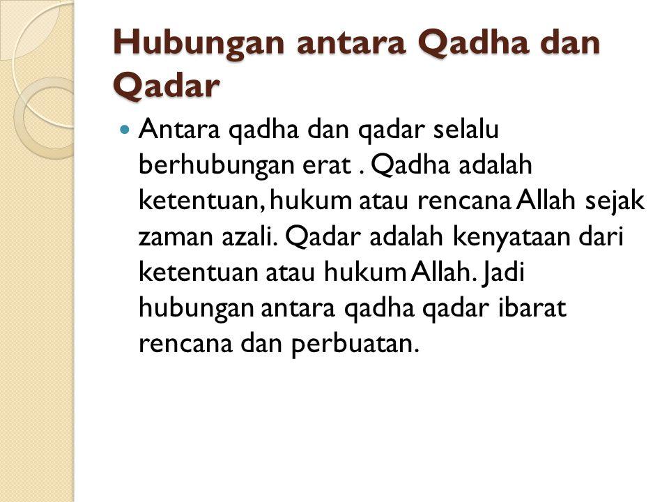 Hubungan antara Qadha dan Qadar