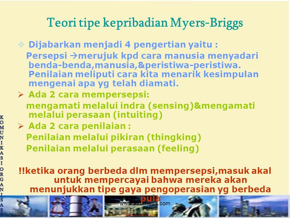 Teori tipe kepribadian Myers-Briggs