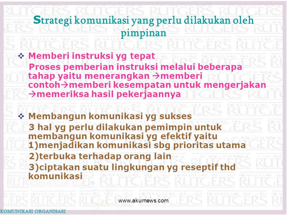 Strategi komunikasi yang perlu dilakukan oleh pimpinan