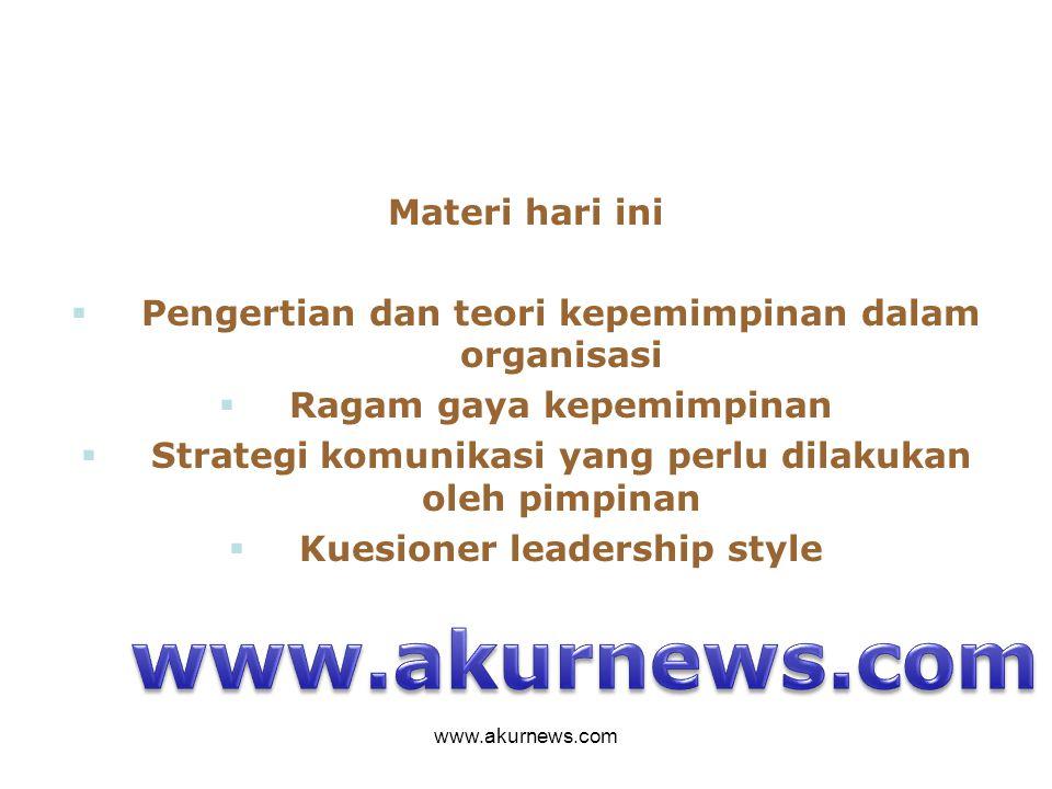 www.akurnews.com Materi hari ini