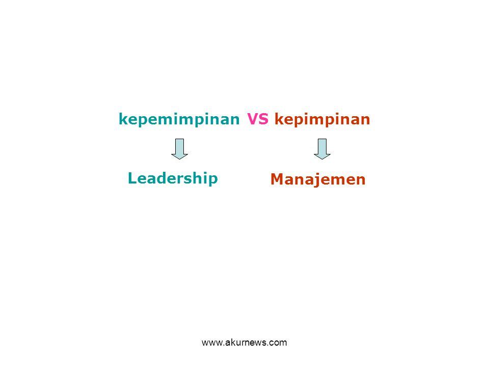 kepemimpinan VS kepimpinan