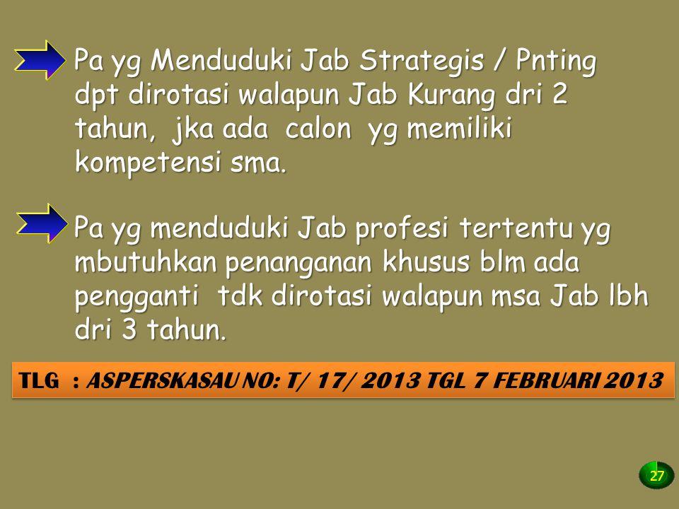 TLG : ASPERSKASAU NO: T/ 17/ 2013 TGL 7 FEBRUARI 2013
