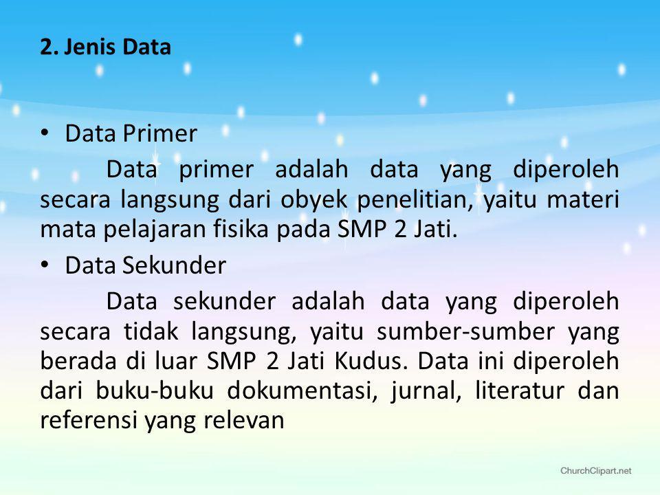 Jenis Data Data Primer.
