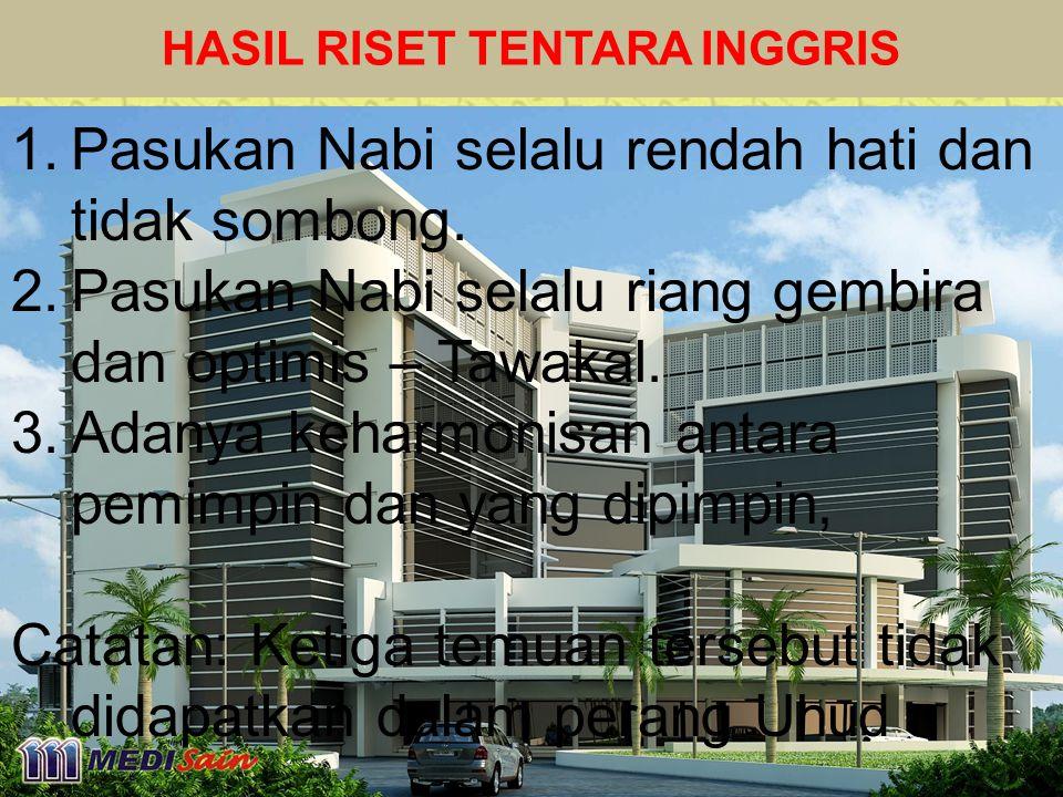 HASIL RISET TENTARA INGGRIS