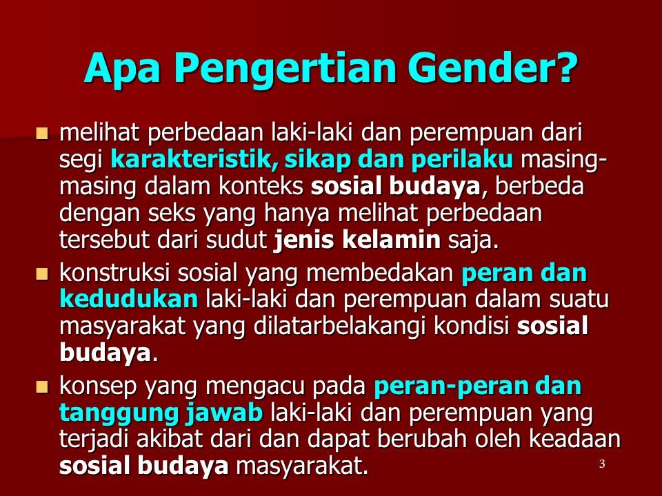 Apa Pengertian Gender