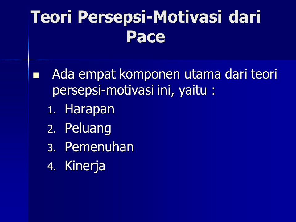 Teori Persepsi-Motivasi dari Pace