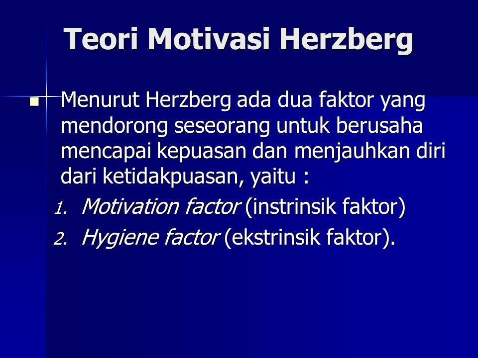 Teori Motivasi Herzberg