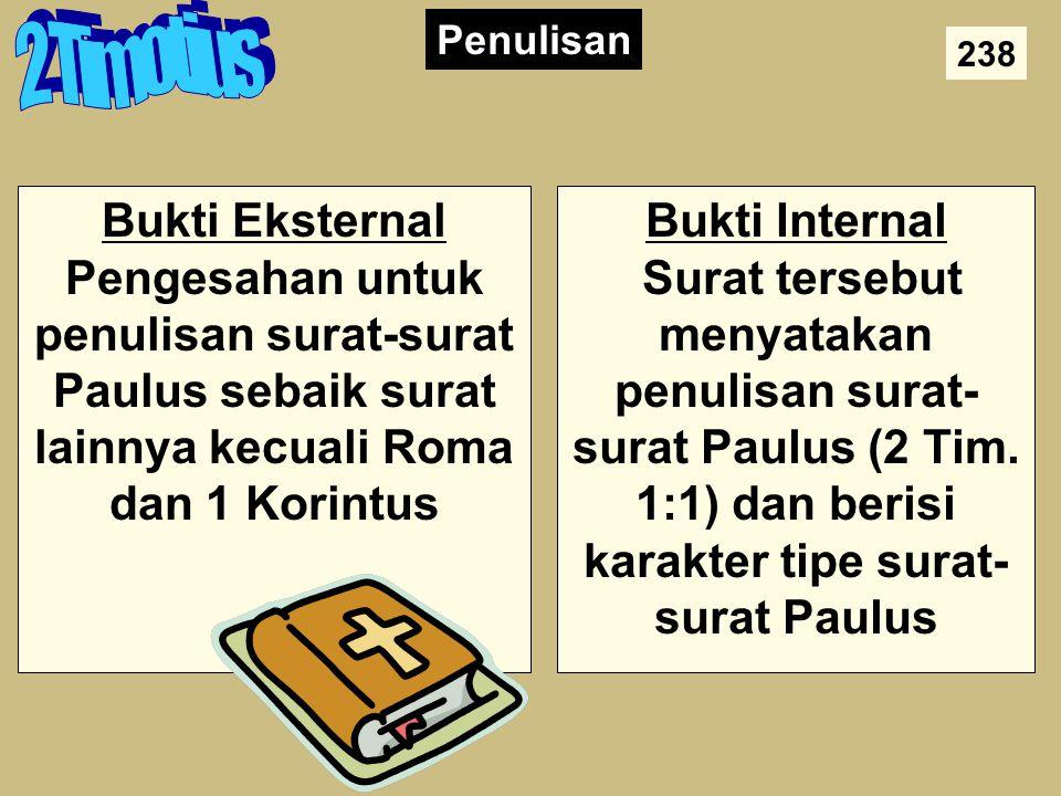 Authorship 2 Timotius. Penulisan. 238.