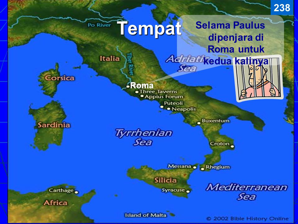 Selama Paulus dipenjara di Roma untuk kedua kalinya