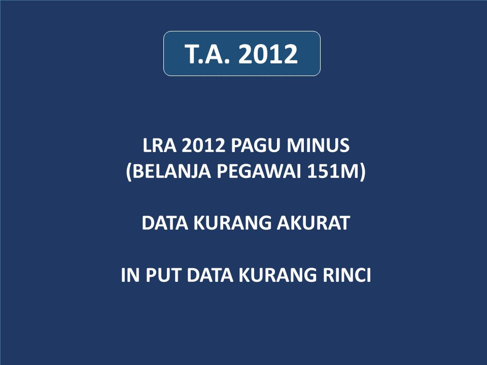 IN PUT DATA KURANG RINCI