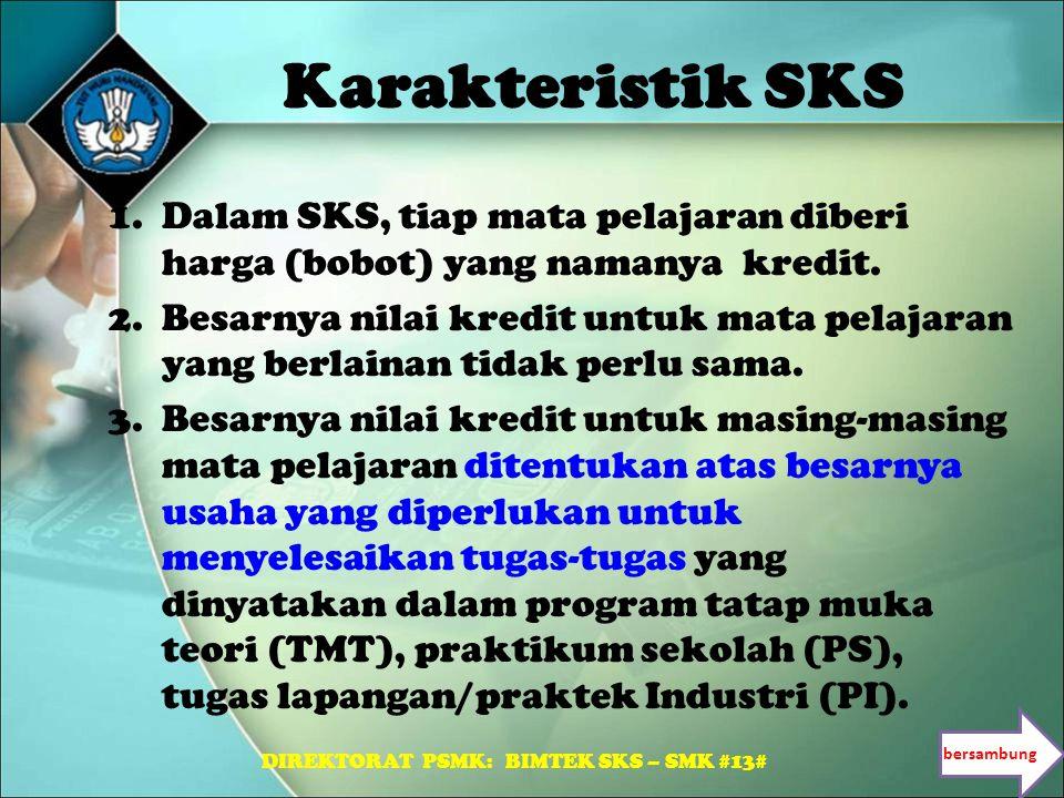 DIREKTORAT PSMK: BIMTEK SKS – SMK #13#