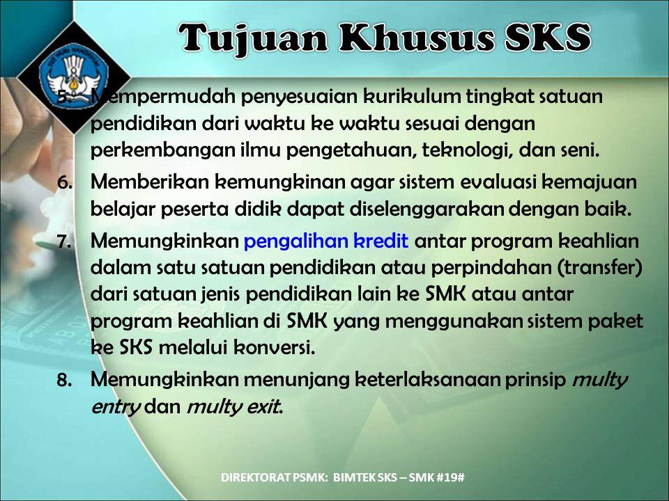 DIREKTORAT PSMK: BIMTEK SKS – SMK #19#