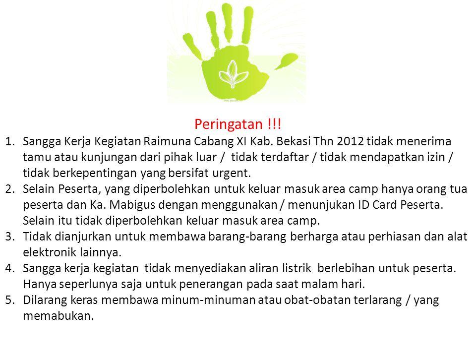 Peringatan !!!