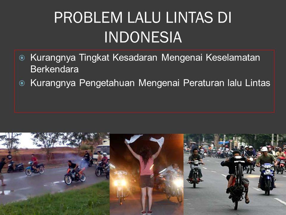 PROBLEM LALU LINTAS DI INDONESIA