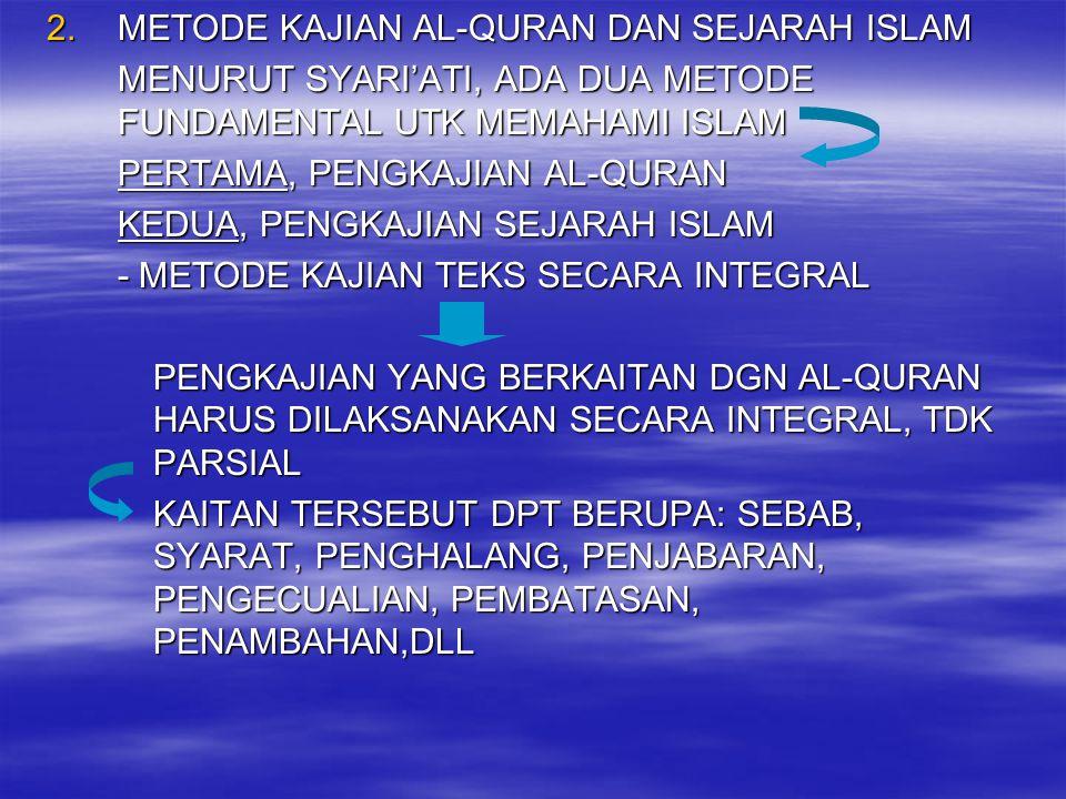 METODE KAJIAN AL-QURAN DAN SEJARAH ISLAM