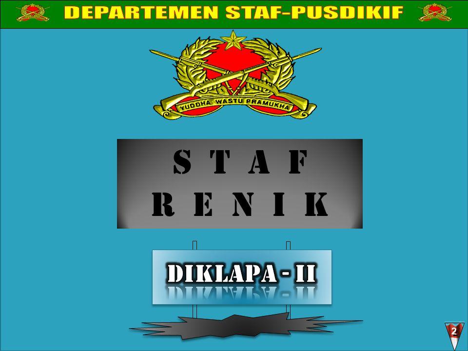 DEPARTEMEN STAF-PUSDIKIF