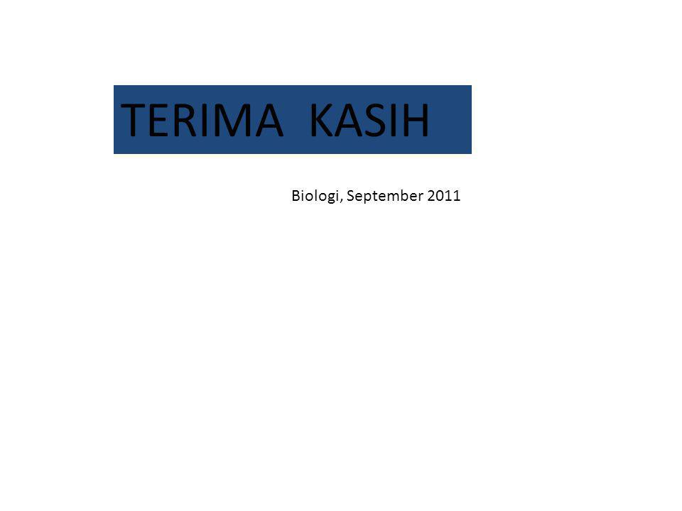 TERIMA KASIH Biologi, September 2011