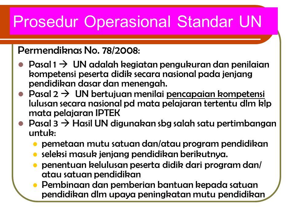 Prosedur Operasional Standar UN