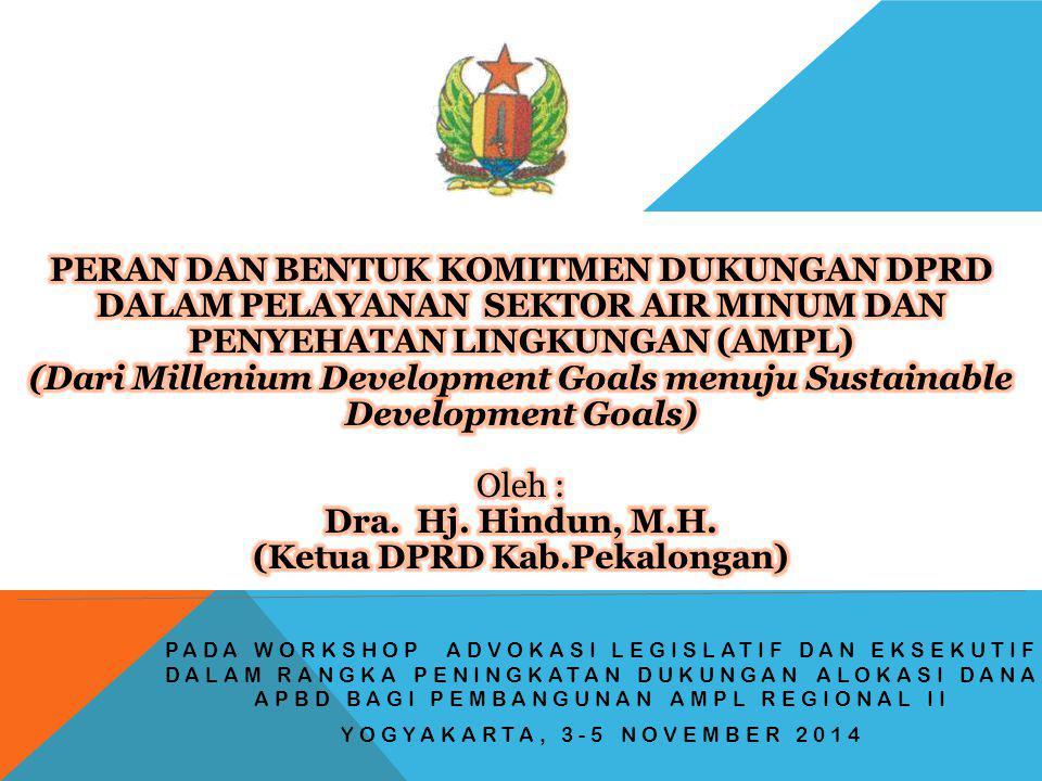 PENYEHATAN LINGKUNGAN (AMPL) (Ketua DPRD Kab.Pekalongan)