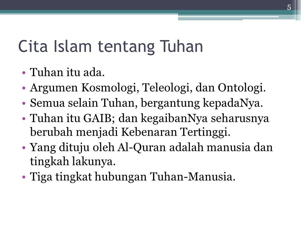 Cita Islam tentang Tuhan