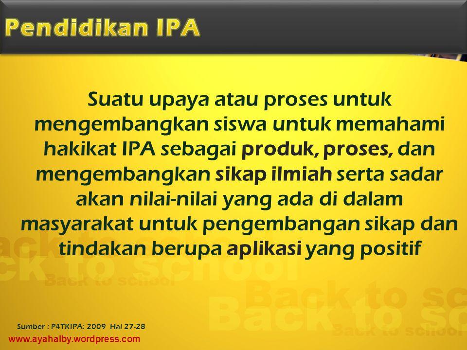 Pendidikan IPA