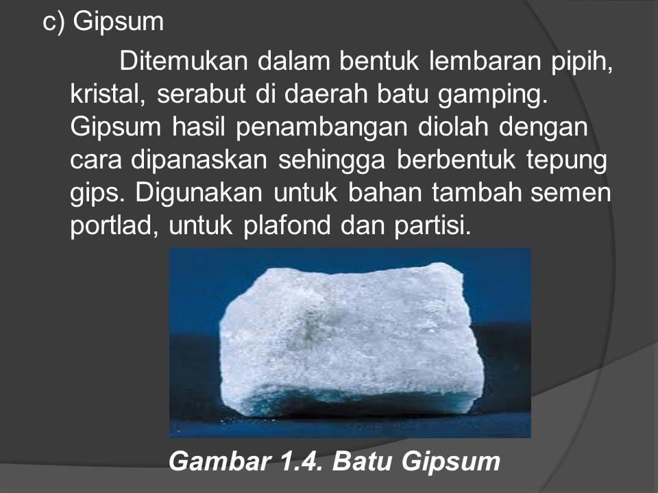 c) Gipsum