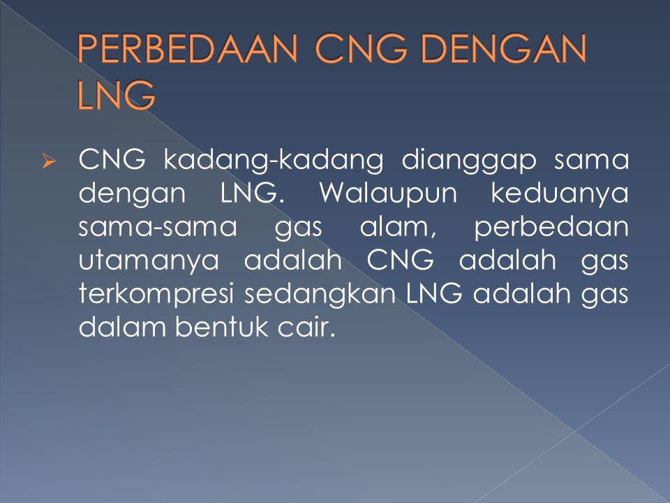PERBEDAAN CNG DENGAN LNG