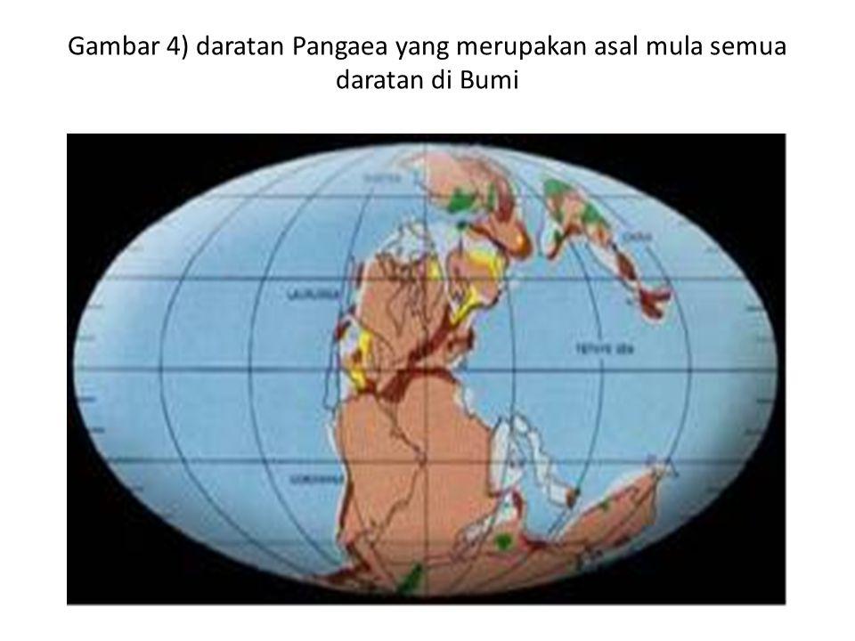 Gambar 4) daratan Pangaea yang merupakan asal mula semua daratan di Bumi