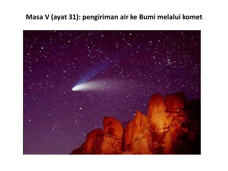 Masa V (ayat 31): pengiriman air ke Bumi melalui komet
