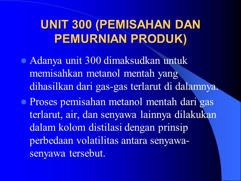 UNIT 300 (PEMISAHAN DAN PEMURNIAN PRODUK)