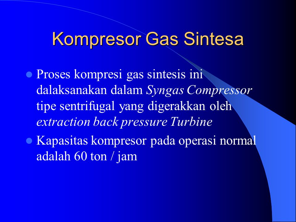 Kompresor Gas Sintesa