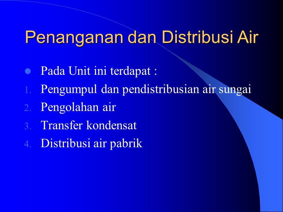 Penanganan dan Distribusi Air