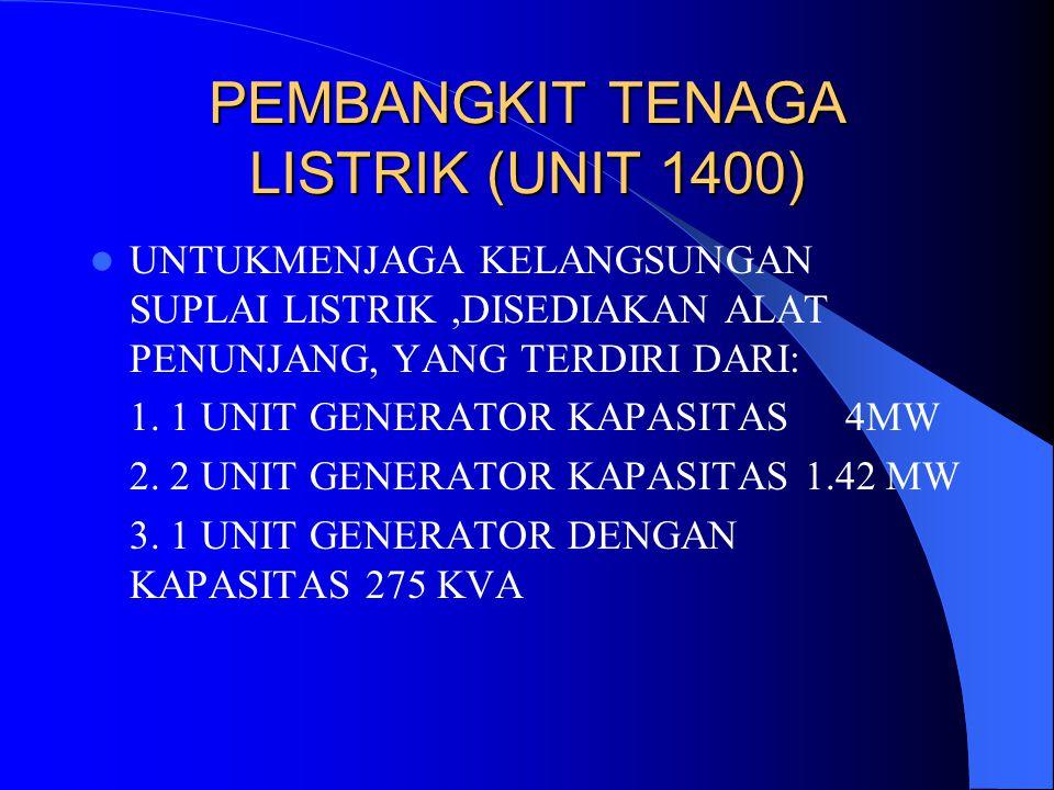 PEMBANGKIT TENAGA LISTRIK (UNIT 1400)