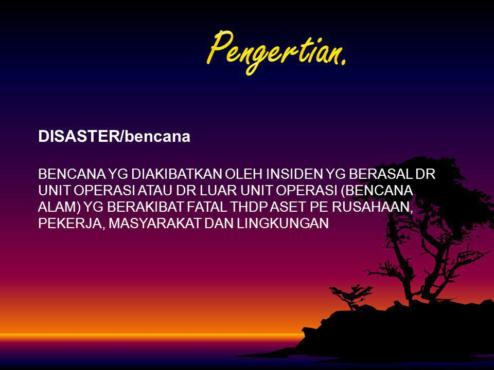 Pengertian. DISASTER/bencana