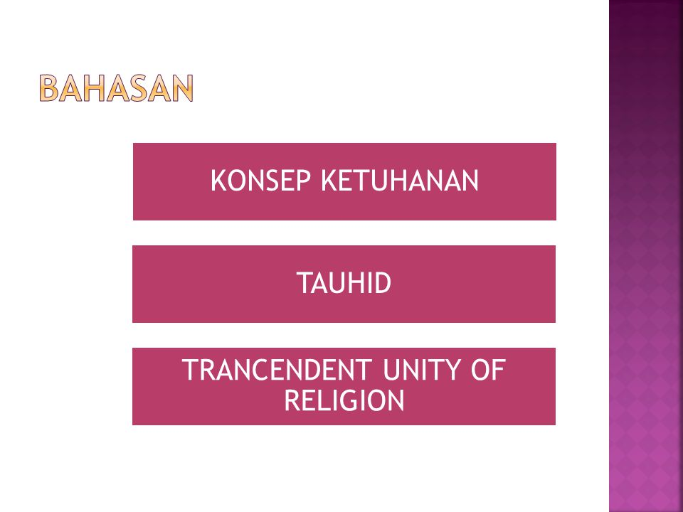 TRANCENDENT UNITY OF RELIGION