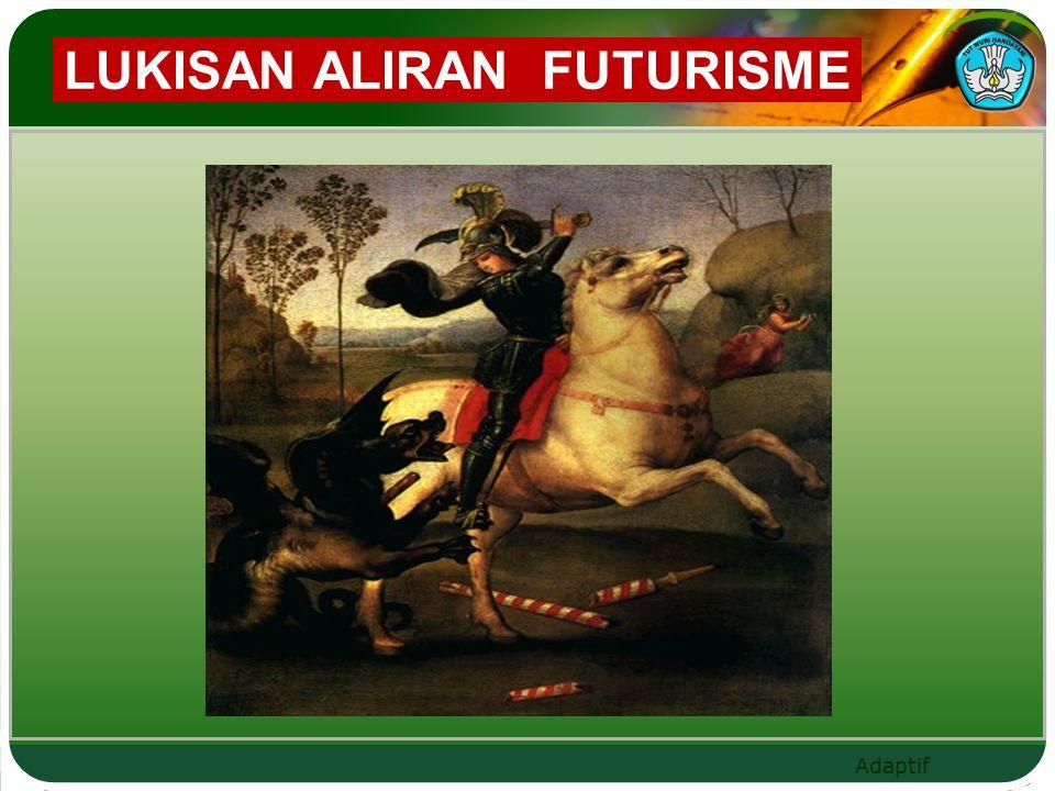 LUKISAN ALIRAN FUTURISME
