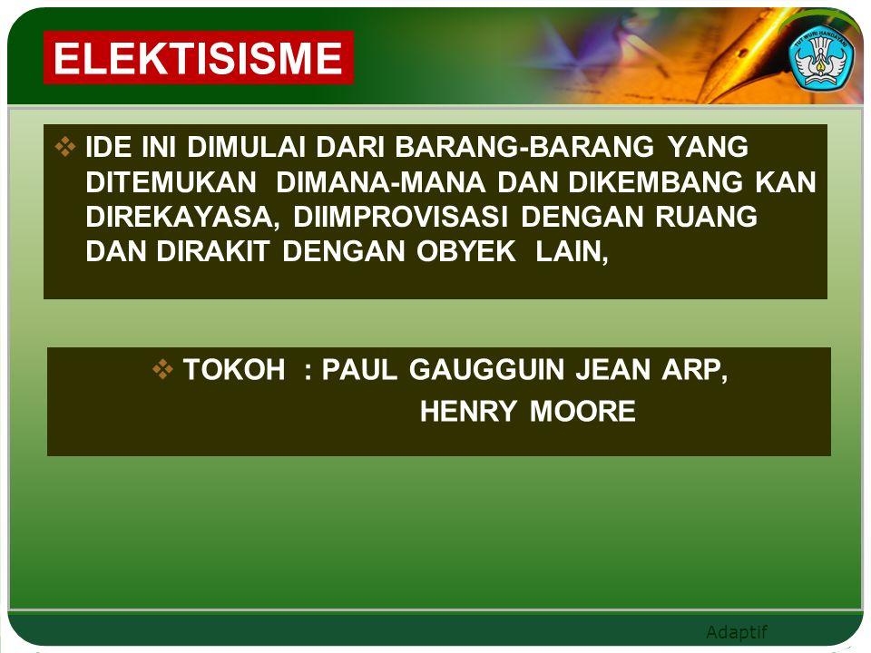 TOKOH : PAUL GAUGGUIN JEAN ARP,