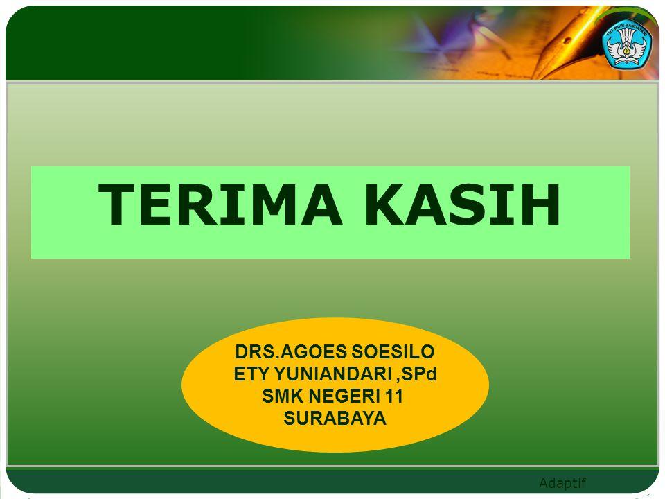 TERIMA KASIH DRS.AGOES SOESILO ETY YUNIANDARI ,SPd SMK NEGERI 11